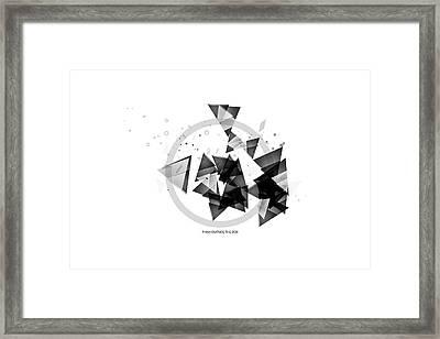 Abstract Art Geometric Shapes No 2 Framed Print by Melanie Viola