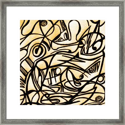 Abstract Art Gold 2 Framed Print