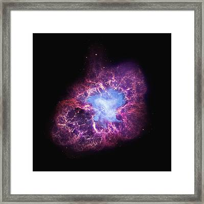 Abstract Heavenly Art - The Crab Nebula Framed Print