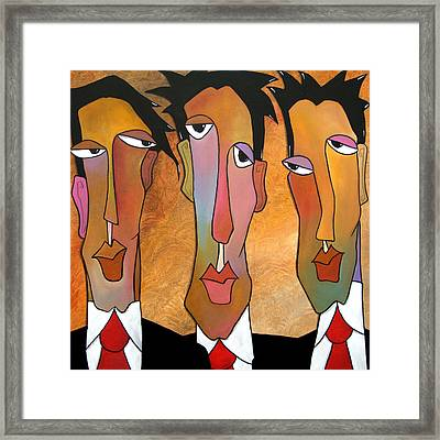 Abstract Art Original Painting - Mad Men Framed Print by Tom Fedro - Fidostudio