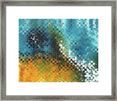 Abstract Art - Pieces 9 - Sharon Cummings Framed Print by Sharon Cummings