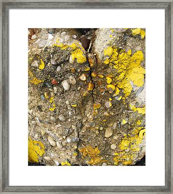 Abstract Art Seen In Parking Lot Framed Print