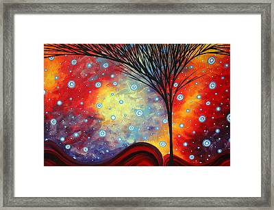 Abstract Art Whimsical Landscape Painting Morning Bliss By Madart Framed Print by Megan Duncanson