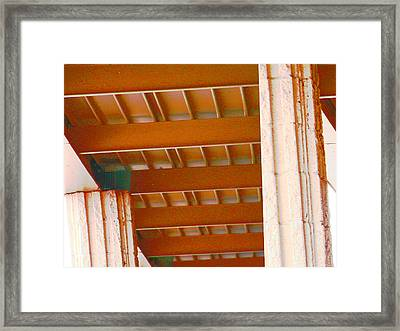 Abstract At Albertsons Framed Print by Lenore Senior