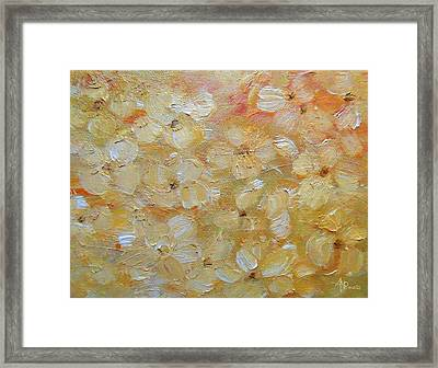 Abstract Autumn Flowers Framed Print