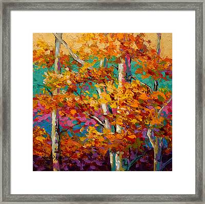 Abstract Autumn IIi Framed Print by Marion Rose