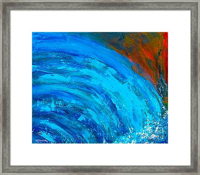 abstract Autumn Waterfall Framed Print
