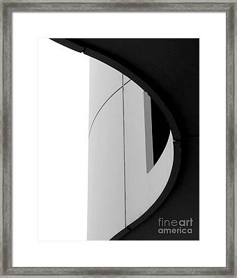 B / W   Abstract  Framed Print