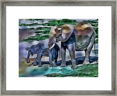 Abstract Baby Elephant  Framed Print