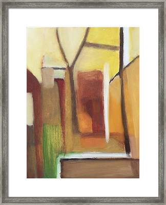 Abstract Backyard 2008 Framed Print by Ron Erickson