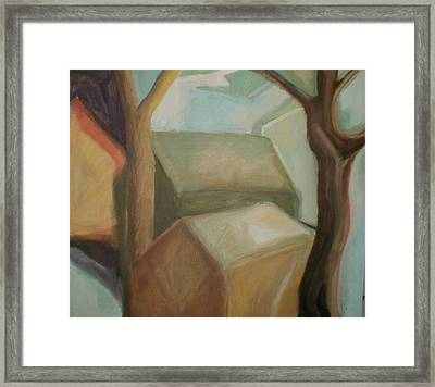 Abstract Backyard Framed Print by Ron Erickson
