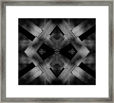 Framed Print featuring the photograph Abstract Barn Wood by Chris Berry