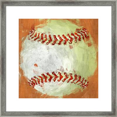 Abstract Baseball Framed Print