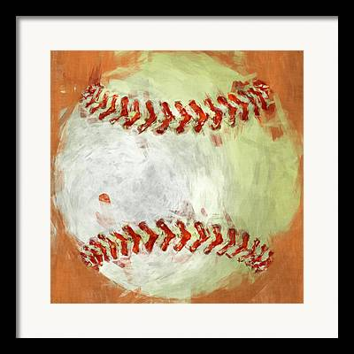 Abstract Baseball Framed Prints