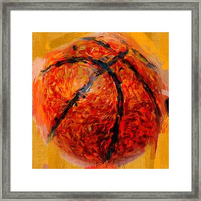 Abstract Basketball Framed Print
