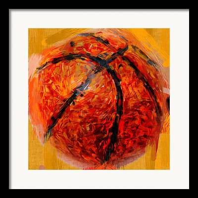 Basketball Abstract Framed Prints