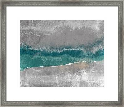 Abstract Beach Landscape- Art By Linda Woods Framed Print
