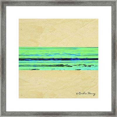 Abstract Beach Landscape  Framed Print