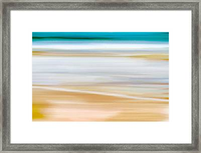 Abstract Beachscape Framed Print