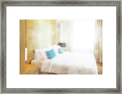 Abstract Bedroom Framed Print by Atiketta Sangasaeng