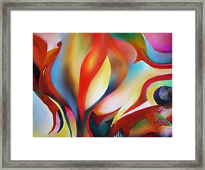 Abstract Beings Framed Print by Peter Shor