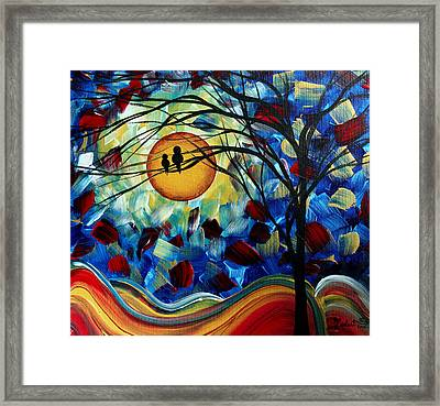 Abstract Birds Baby Bird Original Painting By Madart Framed Print