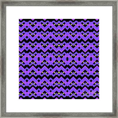 Abstract Black, Purple And Blue Pattern For Home Decoration Framed Print