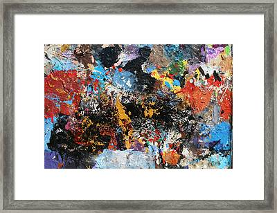 Framed Print featuring the painting Abstract Blast by Melinda Saminski