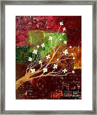 Abstract Blossom Framed Print by Inna Montano