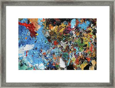 Framed Print featuring the painting Abstract Blue Blast by Melinda Saminski