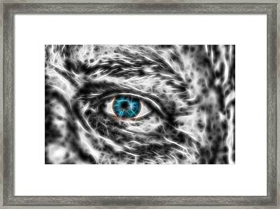 Framed Print featuring the photograph Abstract Blue Eye by Scott Carruthers