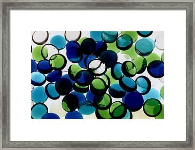 Abstract Blue Green II Framed Print