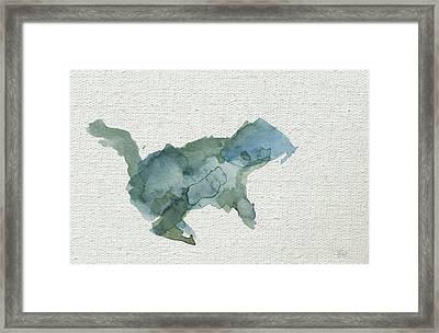Abstract Blue Squirrel Framed Print