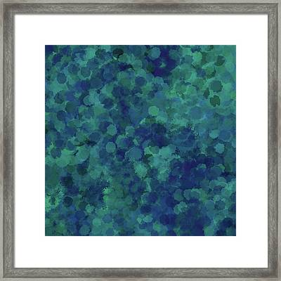 Framed Print featuring the mixed media Abstract Blues 1 by Clare Bambers