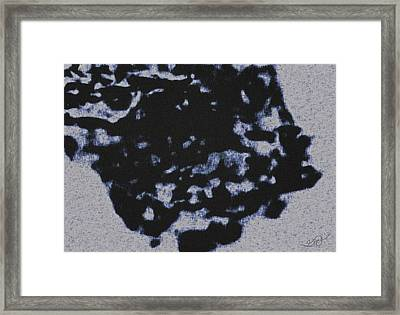 Abstract Born Of A Flying Crow Framed Print by Gina O'Brien