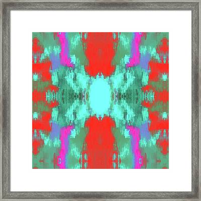 Abstract Brightly Colored Shapes Framed Print by Brandi Fitzgerald