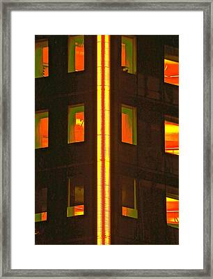 Abstract Building Framed Print by Gillis Cone
