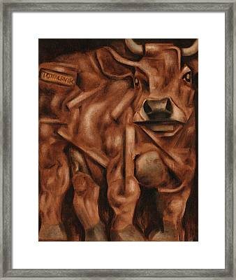 Tommervik Abstract Bull Art Print Framed Print by Tommervik