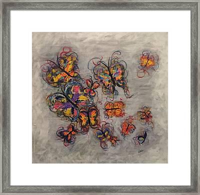 Abstract Butterflies Framed Print