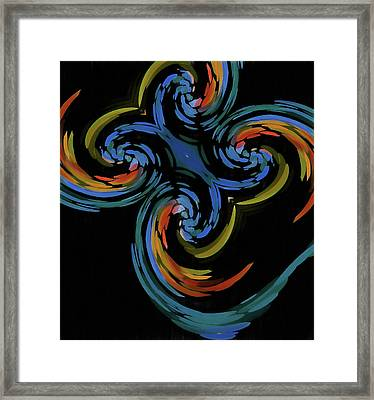 Abstract Butterfly Effect Framed Print by Dan Sproul