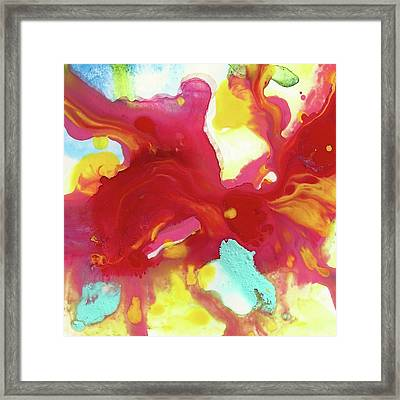 Abstract Butterfly Floral Framed Print by Amy Vangsgard