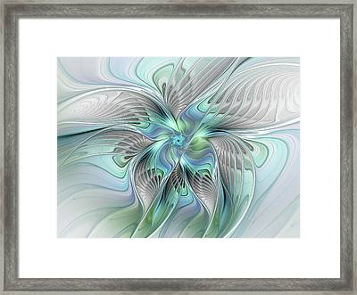 Abstract Butterfly Framed Print by Gabiw Art