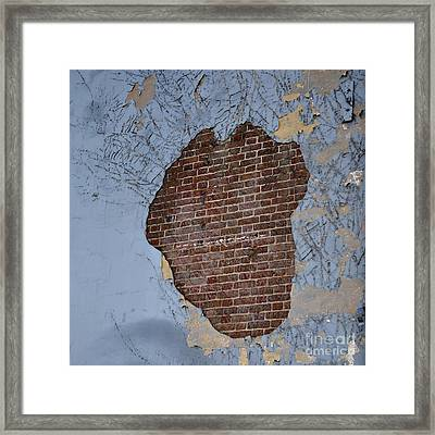 Abstract By Decay Framed Print