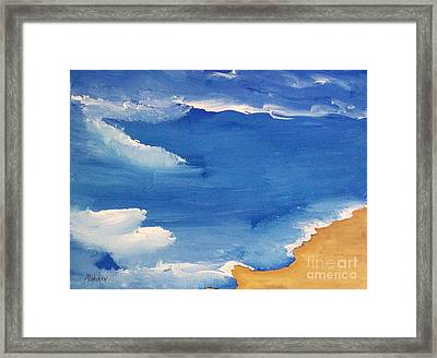 Abstract By The Sea Framed Print by Marsha Heiken