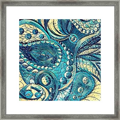Abstract C Framed Print by Megan Walsh