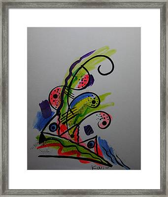 Abstract Card 1 Framed Print by Karin Eisermann