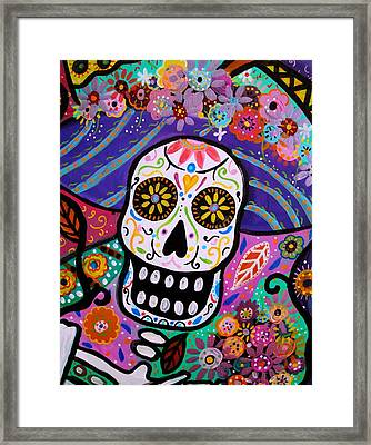 Abstract Catrina Framed Print by Pristine Cartera Turkus