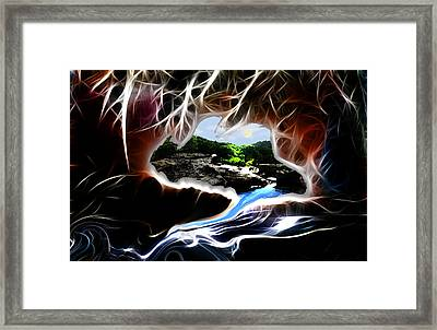 Abstract-cavern Framed Print by Patricia Motley