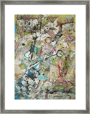 Abstract Chess Framed Print by James Christiansen