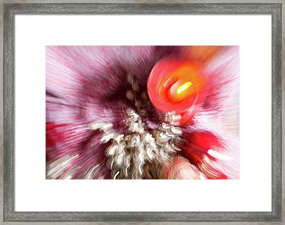 Framed Print featuring the photograph Abstract Christmas 4 by Rebecca Cozart